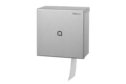 Qbic QTR1S SSL Single Mini Jumbo Roll Tissue Dispenser