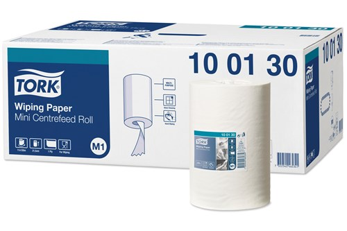 Tork 100130,ADVANCED M1 Mini Centerfeed Wiping Paper