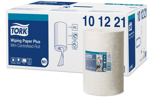 Tork 101221,ADVANCED M1 Mini Centerfeed Wiping Paper 11x75m