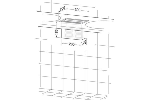 Wagner EWAR WP 117,A-LINE inbouw ZZ handdoekdispenser
