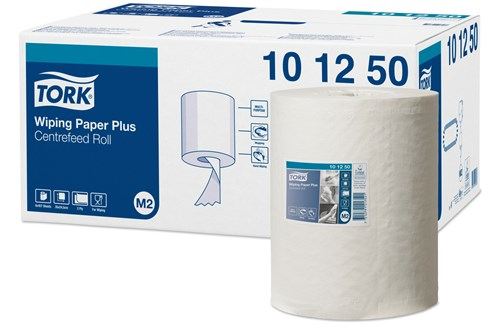 Tork 101250,ADVANCED M2 Wiping Paper Centerfeed 6x160m
