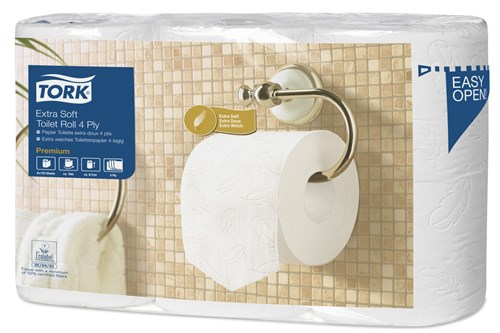 Tork 110405,PREMIUM T4 Toilet Paper 4-ply, 42x150Sheets