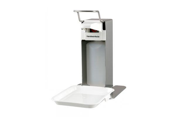 MediQo Stolní dávkovač mýdla a dezinfekce 500 ml s odkapávacím táckem, nerez