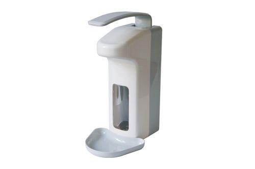 MediQo Dávkovač mýdla a dezinfekce 1000 ml, dlouhá páčkou, plast