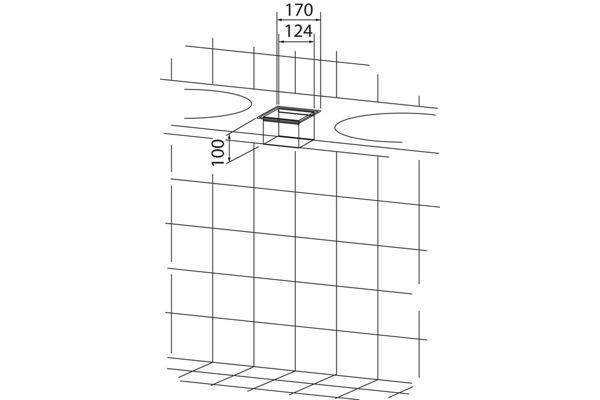 Wagner EWAR WP 145,A-LINE afvalkoker voor inbouw bovenzijde blad