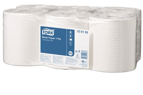 Tork 120155,M2 Centerfeed wiping paper, 1-ply, 6x300m