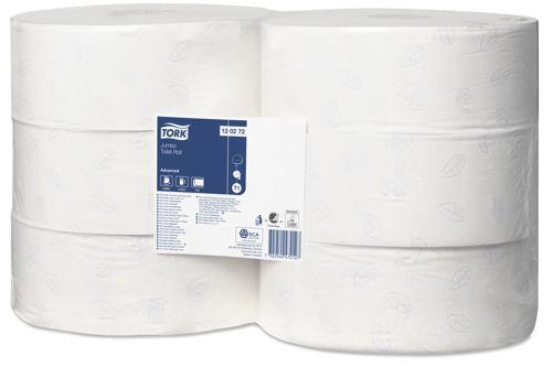 Tork 120272,ADVANCED T1 Jumbo Toilet Roll, 2-ply, 6x360m