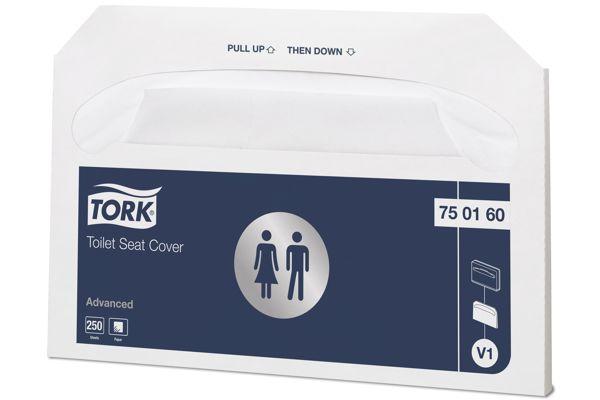Tork 750160,ADVANCED V1 Toilet Seat Covers 20x250 pcs