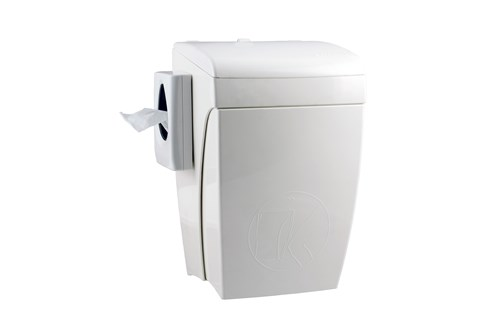 PlastiQ PQHBS,WALLY Hygienický koš se zásobníkem na hyg.sáčky 8 l