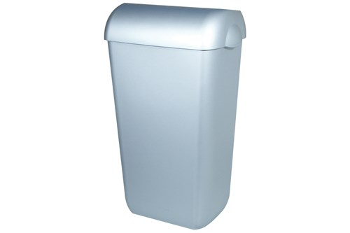 PlastiQ PQA23M half open afvalbak 23 liter, RVS  look