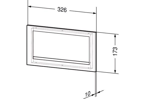 Wagner EWAR WP 136,A-LINE afvalklep voor inbouw voorzijde meubel