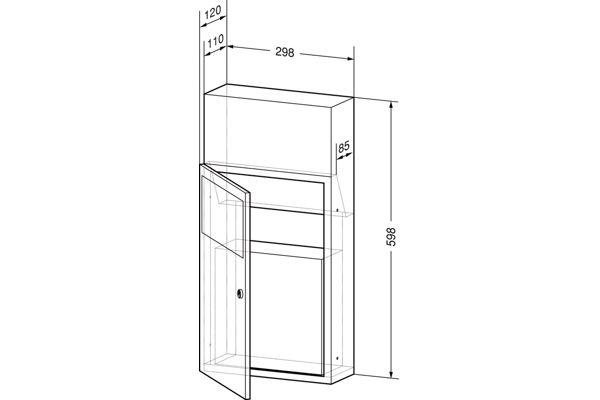 Wagner EWAR WP 138,A-LINE inbouw (hygiëne)afvalbak 5 liter