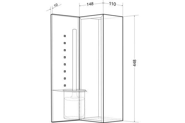 Wagner EWAR #WP 162,A-LINE Toilet Brush Set