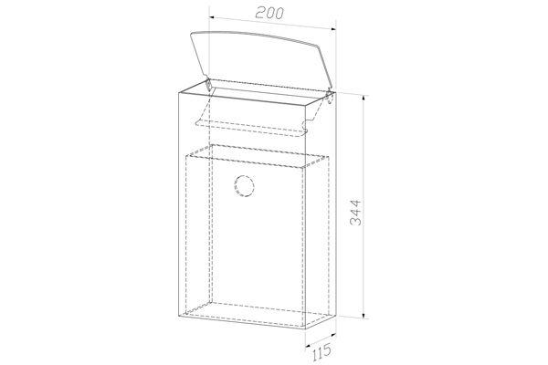Wagner EWAR WP 179-1,A-LINE hygiëne afvalbak gesloten inworp 4 liter