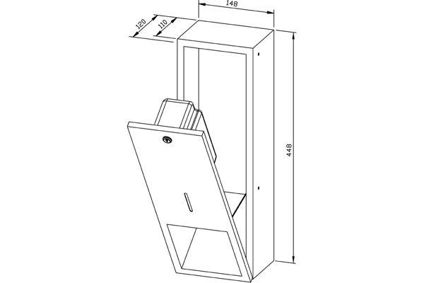 Wagner EWAR WP 208,A-LINE inbouw zeepdispenser