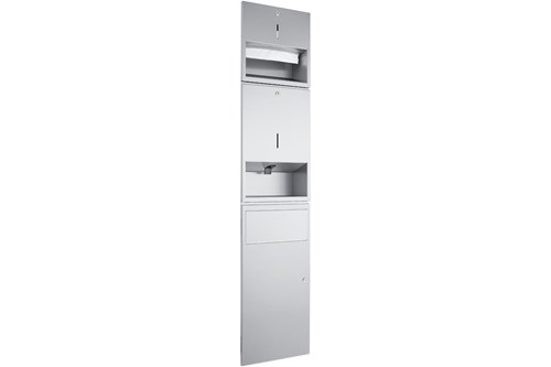 Wagner EWAR WP 500,A-LINE Recessed Combination Soap/Paper/Waste
