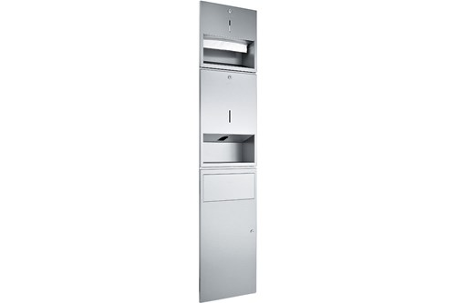 Wagner EWAR WP 500E,A-LINE Recessed Combination Soap/Paper/Waste