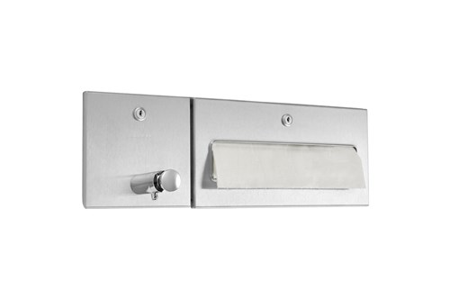 Wagner EWAR WP 506,A-LINE Recessed Combination Soap/Paper