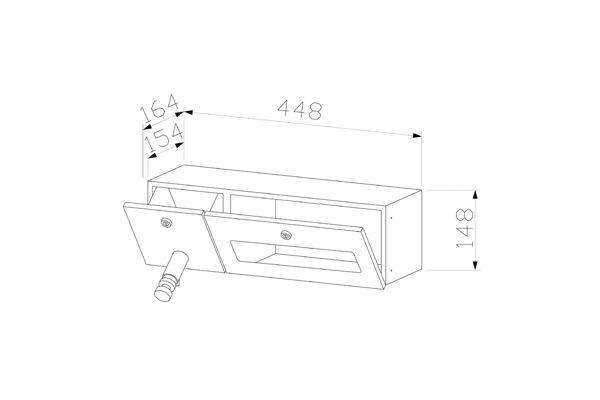 Wagner EWAR WP 506,A-LINE inbouw combinatie zeep/ZZ papier