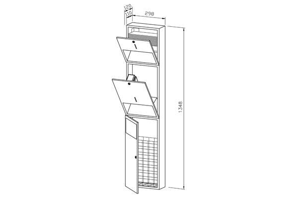 Wagner EWAR WP 510E,A-LINE combinatie sensor zeep/ZZ papier/afval