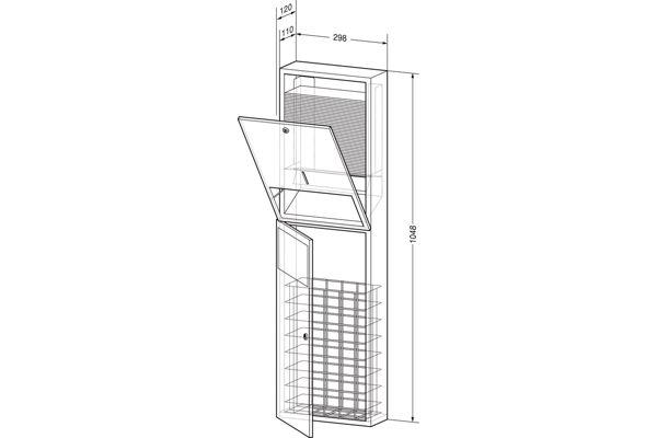 Wagner EWAR WP 540,A-LINE inbouw combinatie ZZ papier/afval