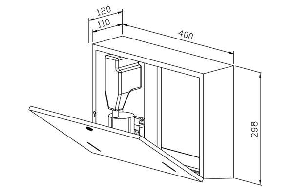 Wagner EWAR WP 550-5,A-LINE combinatie foamzeep/ZZ papier