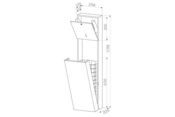 Wagner EWAR WP 5110,A-LINE inbouw combinatie ZZ papier/afval