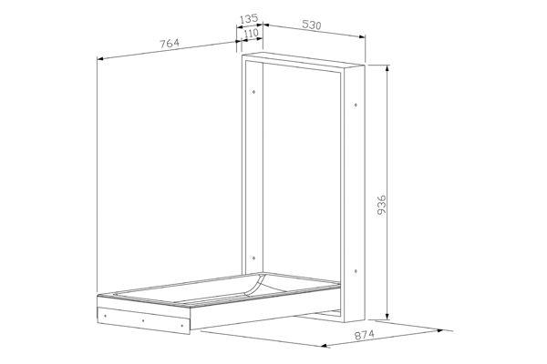 Wagner EWAR WP 2110,A-LINE Table à langer version verticale
