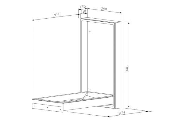 Wagner EWAR WP 2115,A-LINE Table à langer version verticale