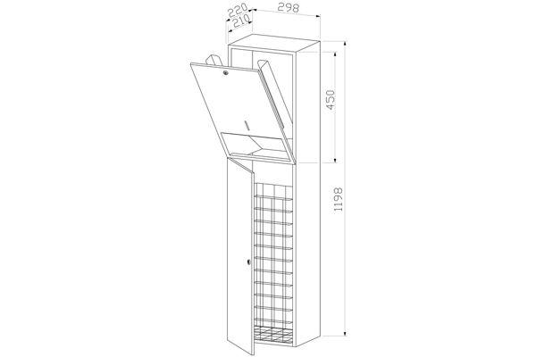 Wagner EWAR WP 5120,A-LINE inbouw combinatie papier/afval