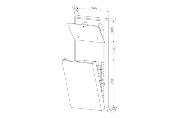 Wagner EWAR WP 5415,A-LINE combinatie zeep/papier/afval