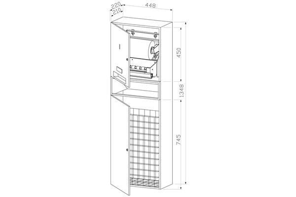Wagner EWAR WP 5451,A-LINE Combiné papier en rouleau/déchets
