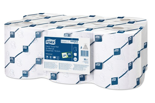 Tork 471141,ADVANCED H14 Hand Towel Rolls, 6x160m