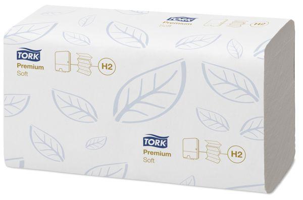 Tork 100288,H2 Premium Multifold handdoeken 21x110 vel