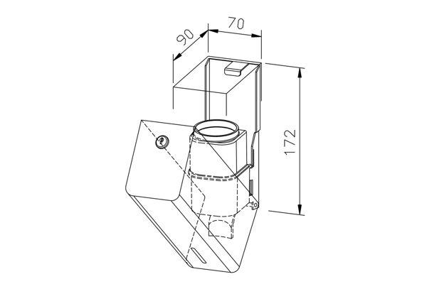 Wagner EWAR PP 107,P-LINE zeepdispenser 200 ml.