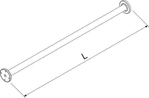 Wagner EWAR BF 690 douchegordijnstang 1000 mm.