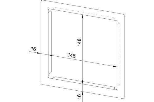 Wagner EWAR 768970 frame voor buitenafmetingen 148x148 mm