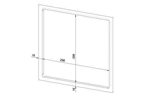 Wagner EWAR 768645 frame 298x298 mm