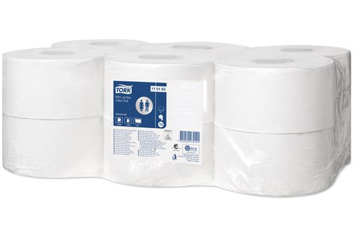 Tork 110163,T2 Advanced Mini jumbo toilet roll 12x240m