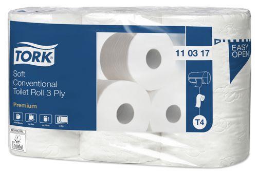 Tork 110317,PREMIUM T4 Toilet Roll Paper 42x248 Sheet