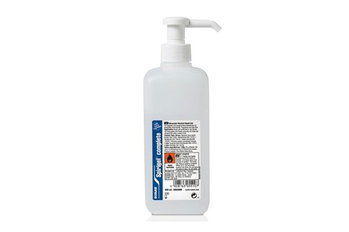 Ecolab SPIRIGEL COMPLETE Gel Hand Disinfectant +Pump 1x500 ml