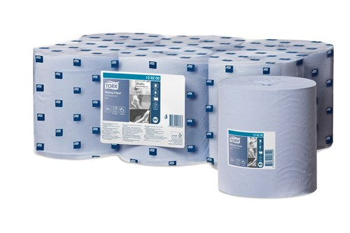Tork 128208,ADVANCED M2 Centerfeed Wiping Paper,1-ply,6x320m