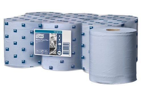 Tork 128207,ADVANCED M2 Centerfeed Wiping Paper, 2-ply 6x157m