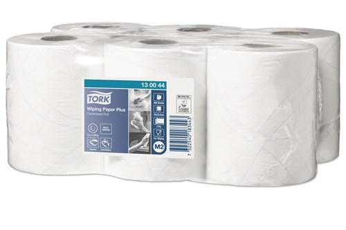 Tork 130044,PREMIUM M2 Centerfeed Wiping Paper, 6x125m