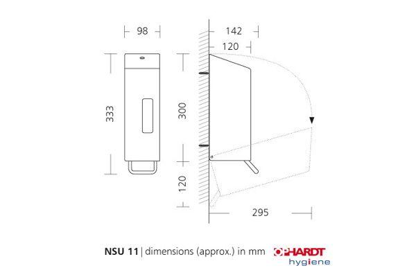 SanTRAL NSU 11 E/S AFP Soap Dispenser 1200 ml