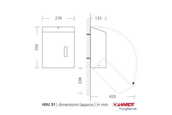 SanTRAL® Classic C/ZZ Interfold handdoekdispenser