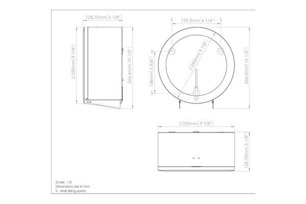 Mediclinics PR2783 mini jumbo toiletrolhouder