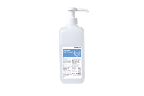 Ecolab SKINMAN SOFT PROTECT Hand Disinfectant+Pump 1x500 ml