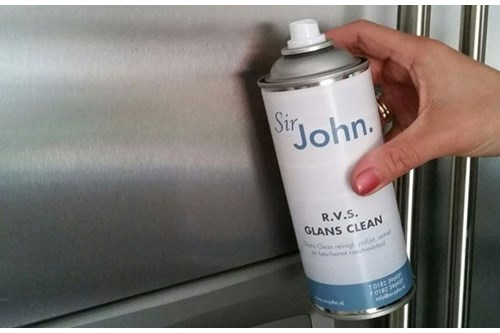 SIR JOHN,10409 rvs glans clean spuitbus 400 ml