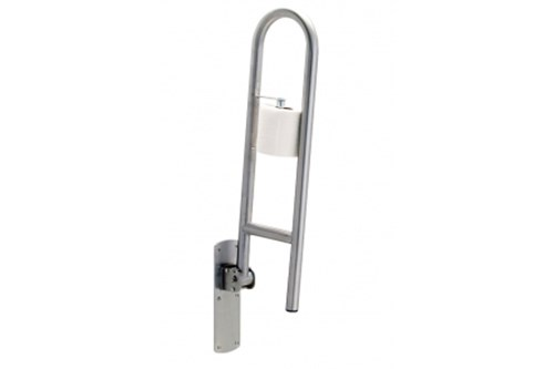Bobrick 125-SWING-UP-PH Grab Bar+Toilet Tissue Holde